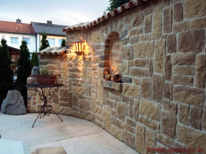 Coppo Di Domenica Farbe Rinascimento Mediterrane Gartenmauer Mit