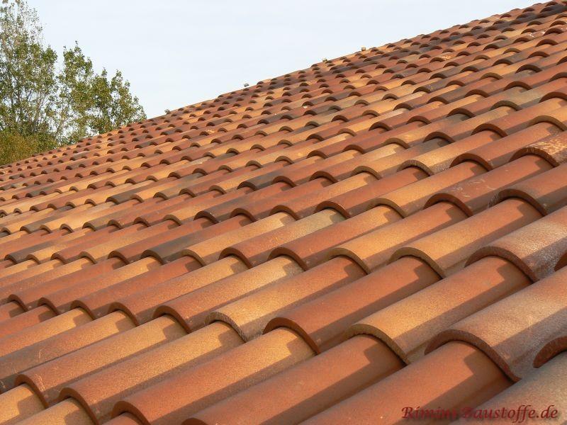 Nahaufnahme eines Dachesin verschiedenen Rottönen mit hellen und einigen dunklen Einschlüssen