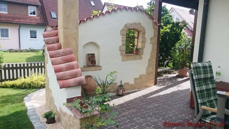 Teja Curva Farbe Viellja Castilla Sichtschutzmauer Ueber Eck