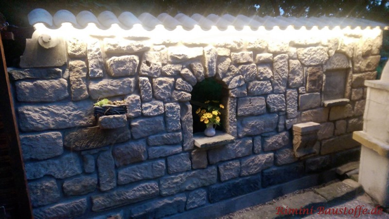 rustikale gartenmauer vino mur u die rustikale gartenmauer mit klinker gemauerte gartenmauer. Black Bedroom Furniture Sets. Home Design Ideas