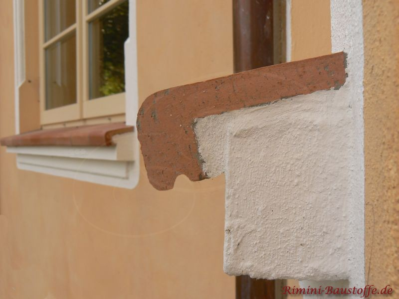Fensterbaenke mit Tropfnase