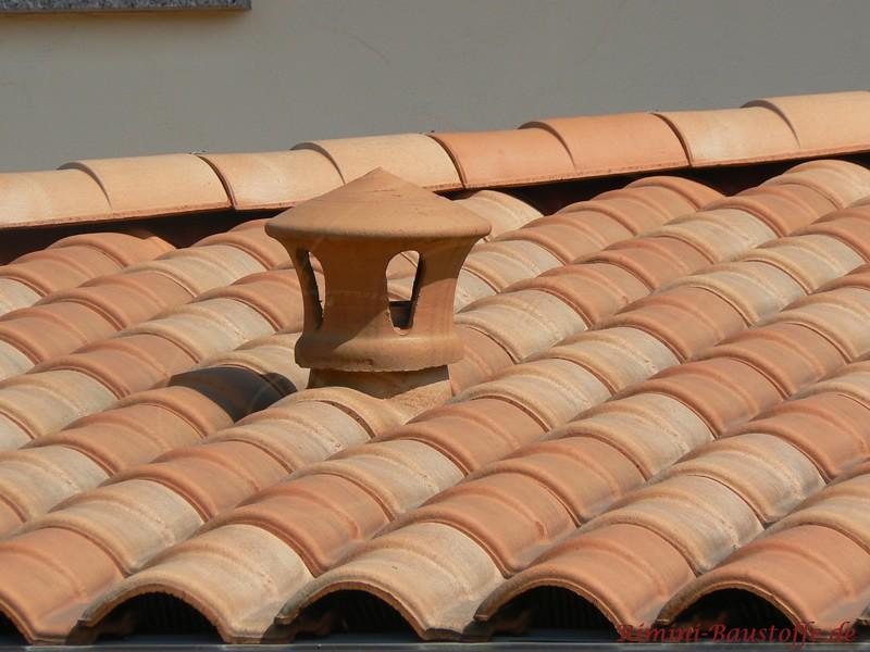 Lüfterstein bei mediterranem Dach