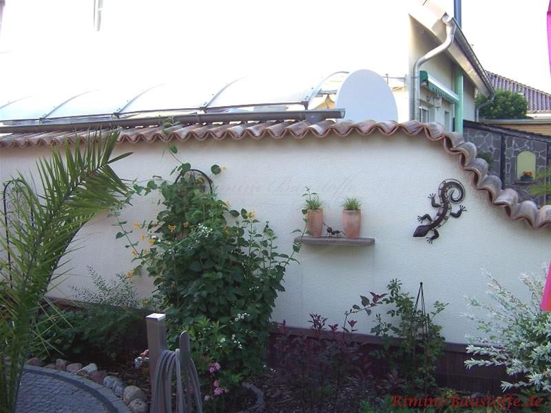 mediterrane Gartenmauer