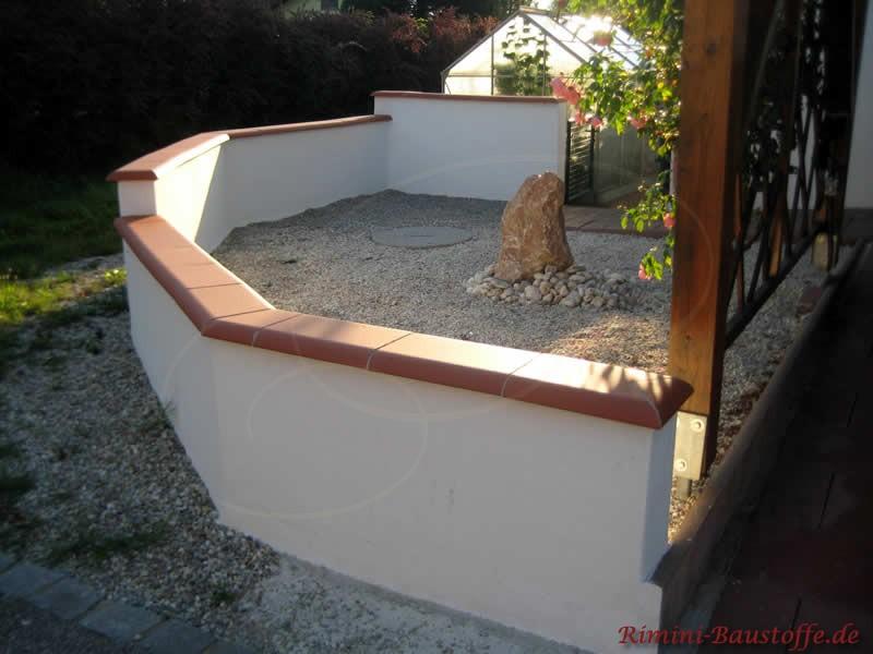 elegante und zeitlose Mauerabdeckung