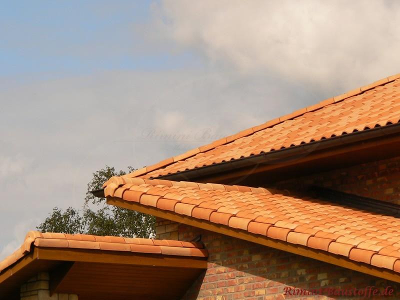 Pultdächer mit Klinkerfassade