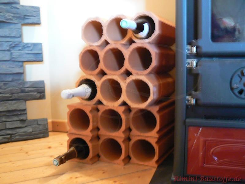 Kombination aus Weinlagersteinen
