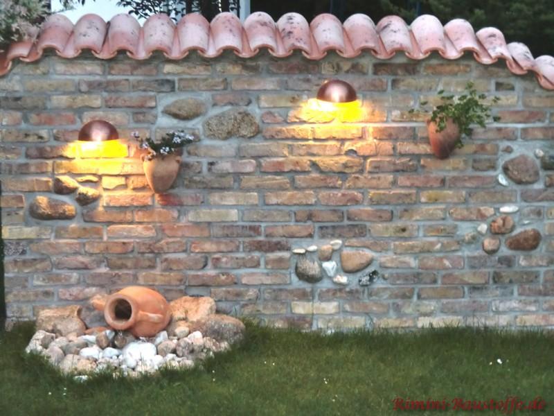 Emejing Gartenmauer Mediterran Verputzt Images - Globexusa.us ...