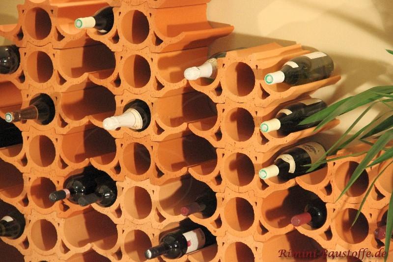 Schöne Weinlagerregalsysteme aus Ton