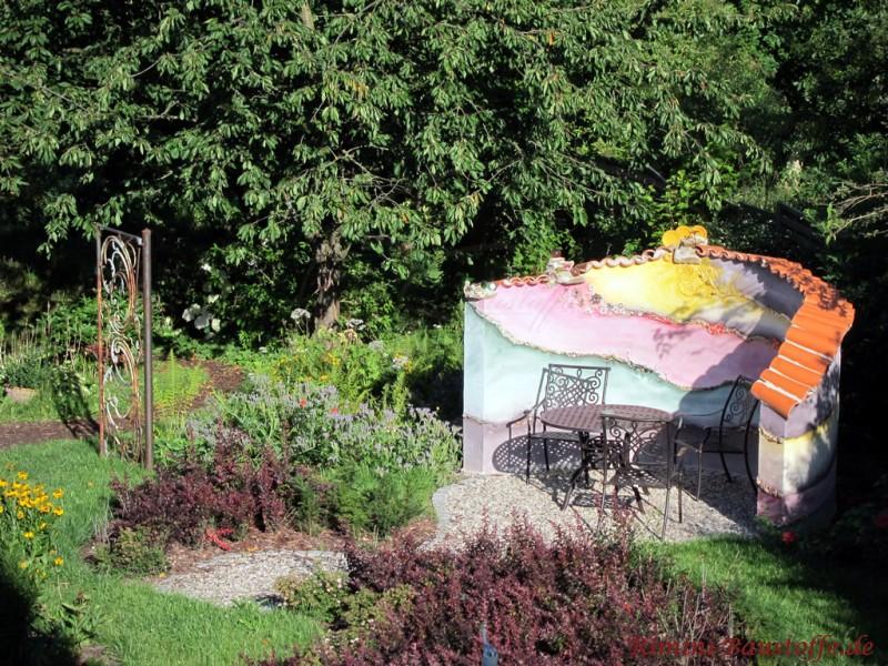 Teja Curva Farbe Rojo Gartenmauer Fur Eine Kleine Sitzecke Im Garten