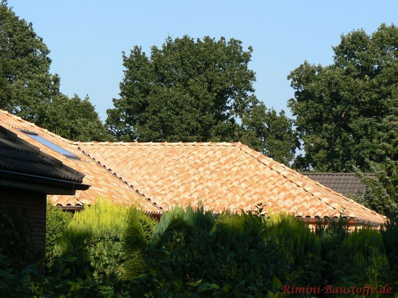 hell schimmerndes Dach im Norden Deutschlands