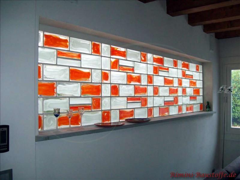 Pietre di vetro farbe mixed bilder for Pareti divisorie vetrocemento