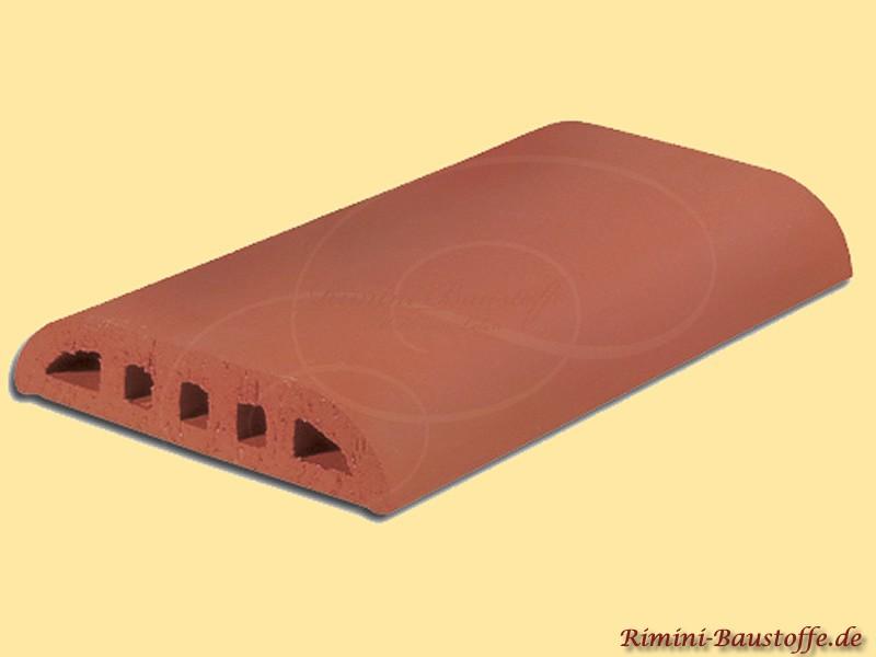 Rimini Baustoffe caperon plate farbe flache rote mauerabdeckung aus ton