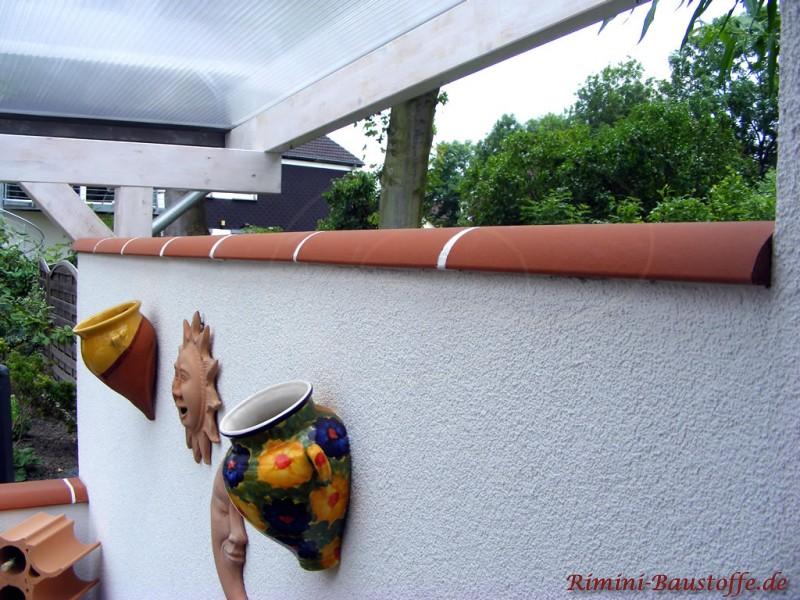 Atemberaubend Chaperon Plate - Farbe rouge - Trennmauer einer Terrasse, die mit @BF_86