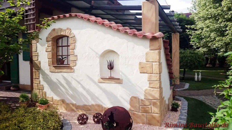 Lieblings Teja Curva - Farbe Viellja castilla - Sichtschutzmauer an der Terrasse #AR_04