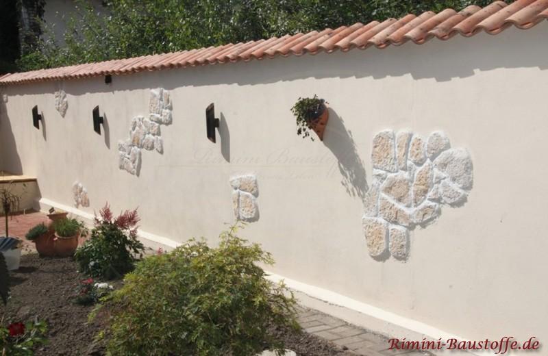 Gartenmauer mediterran Halbschalenabdeckung