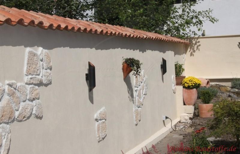 tolle Gartengestaltung mit mediterranen Elementen