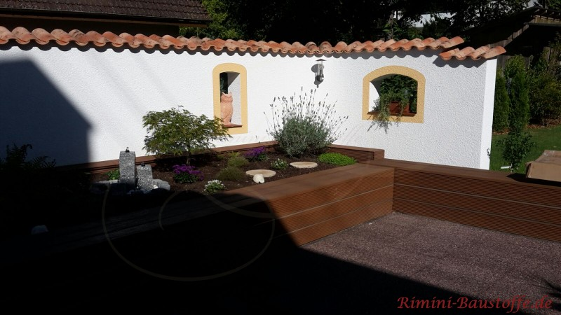 Gartenmauer mediterran angehaucht