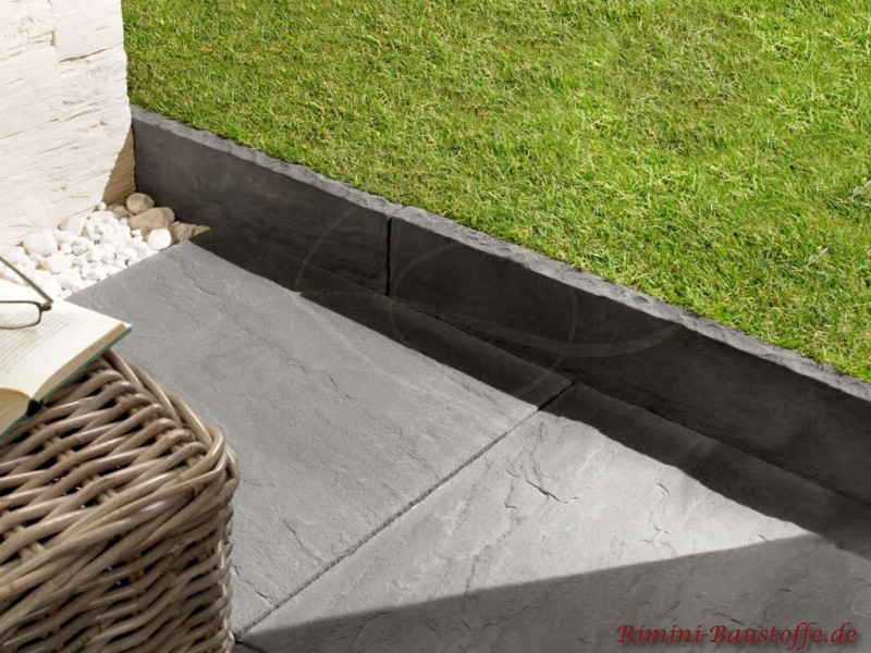 terrassenplatten rio farbe gris bilder. Black Bedroom Furniture Sets. Home Design Ideas
